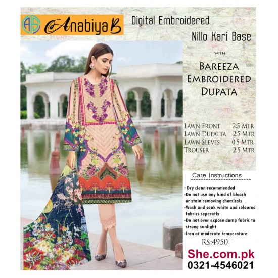 Nillo Kari Base with Bareeza Embroidered Dupata - D11