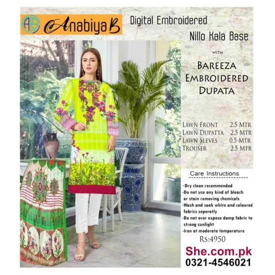 Nillo Kari Base with Bareeza Embroidered Dupata - D5