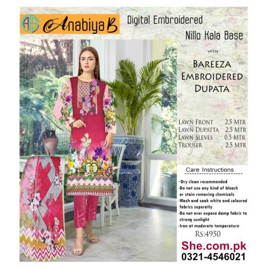 Nillo Kari Base with Bareeza Embroidered Dupata - D7