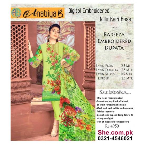 Nillo Kari Base with Bareeza Embroidered Dupata - D8