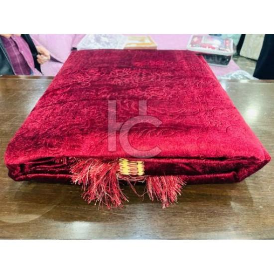 Faux Velvet Embossed Bed Sheet Set 5pcs (Mardian 1705)