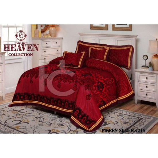 Heavy Palachi Bed Sheet Set 5pcs (Marry Silver 4210)