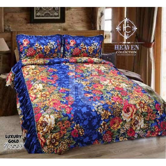 Crystal Cotton Satin Frilled Bedsheet 1414