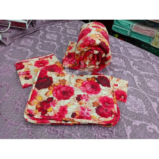 Cotton Pc Comforter Set 6pcs (Marry Roses 3106)
