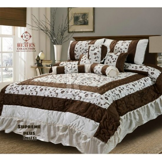 Heavy Silk Bridal Comforter Set 9pcs (Supreme Plus 15es2)