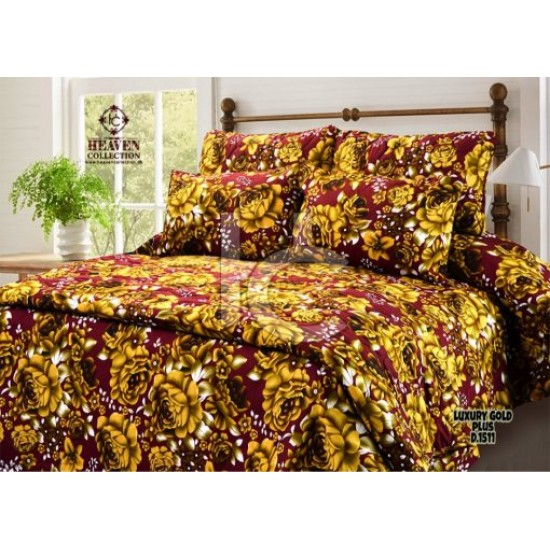 Quilted Comforter Set 6pcs (Luxury Gold Plus 1511)