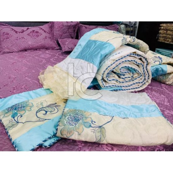 Royal Organza Comforter Set 6pcs (Royal Cottage 8209)
