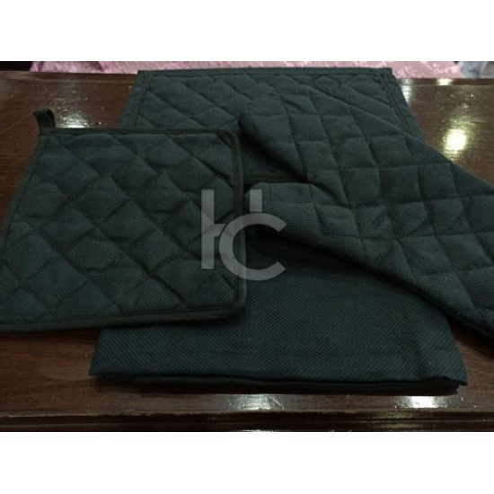 Quilted Kitchen Apron Set 4pcs (Sweet Home 1711)
