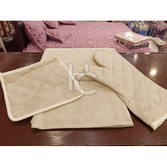 Quilted Kitchen Apron Set 4pcs (Sweet Home 1712)