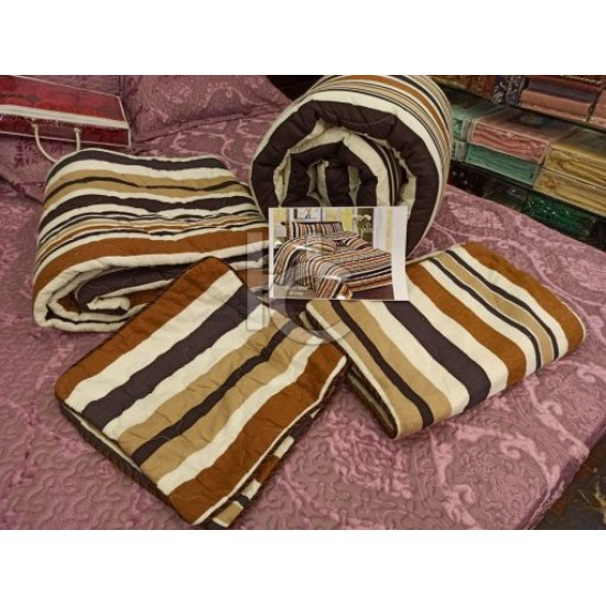 Cotton Flannel Quilt Set 6pcs (Royal Twist 8102)