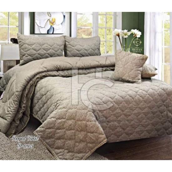 Cotton Flannel Quilt Set 6pcs (Royal Twist 8103)