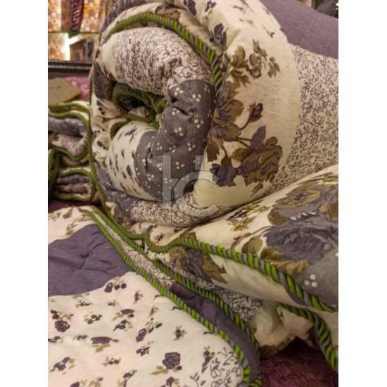Cotton Flannel Quilt Set 6pcs (Royal Twist 8105)